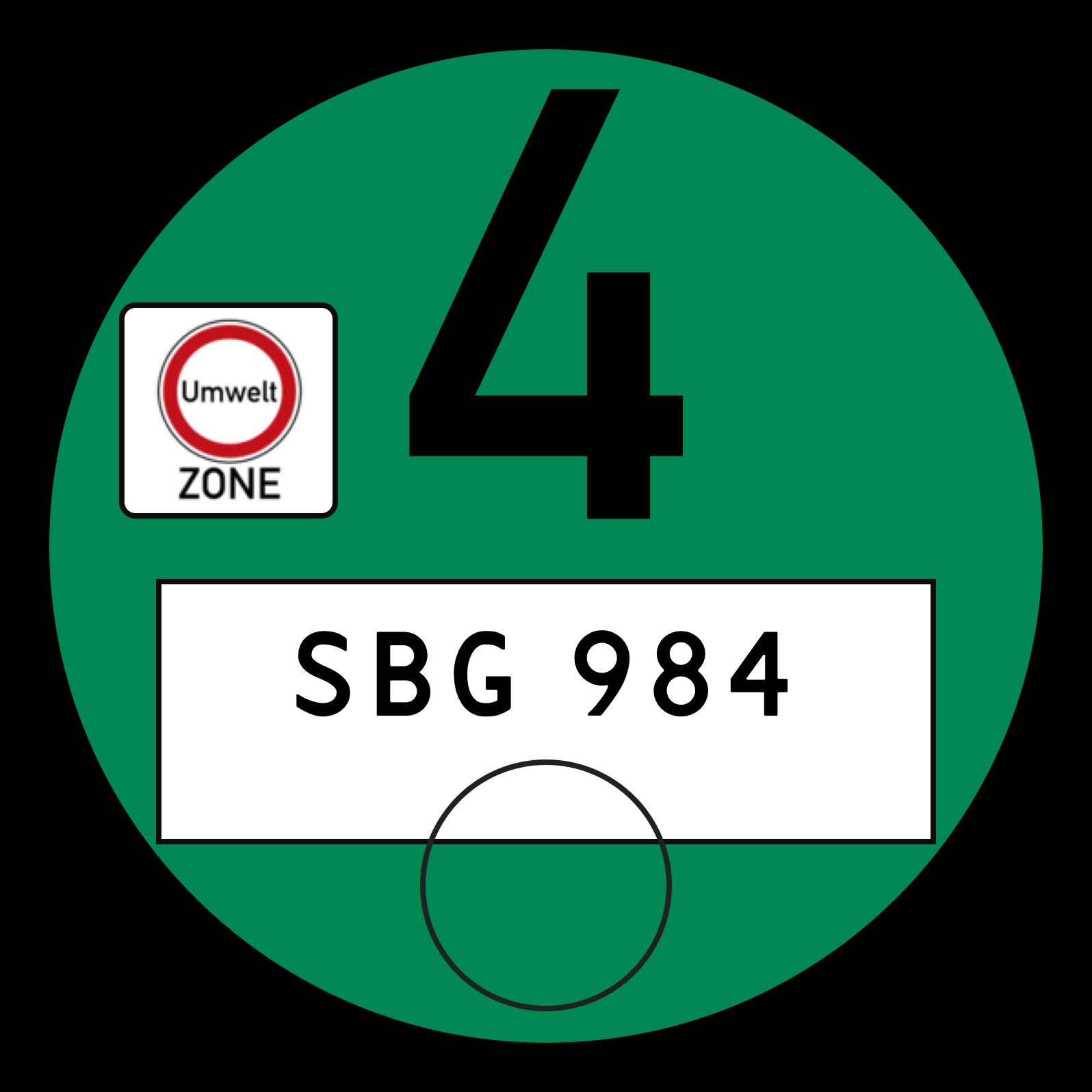 German Emissions Sticker